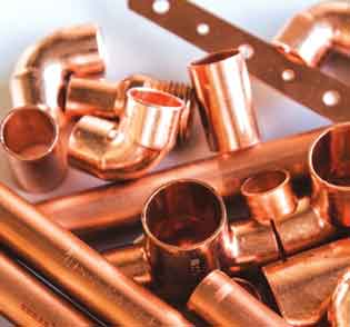Copper Pipe End Fittings