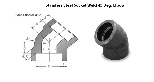 Socket Weld 45 Degree Elbow Dimensions